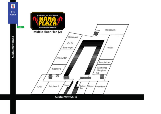 Nana Plaza Map Middle Floor