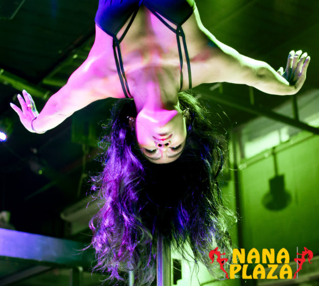 Nat, Pole Angel at Butterflies (formerly Jail Birdz)