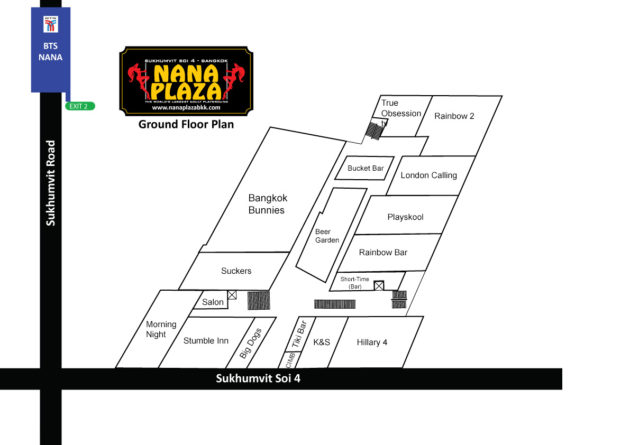 Nana Plaza Map / Ground Floor