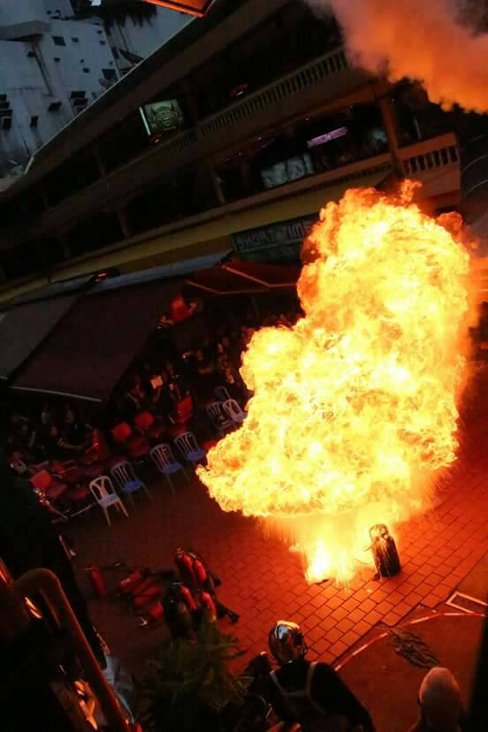 "Photo of the ""fireball"" demonstration, shot by a participant."