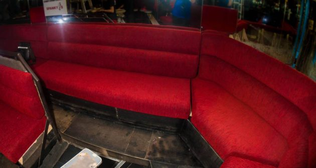All new sofa seating has been installed at Spanky's.